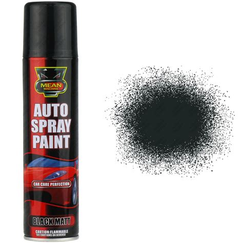 spray paint l 17 x 250ml matt black aerosol spray cans cars vans auto