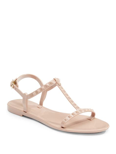 studded jelly sandals saks fifth avenue bibi studded jelly sandals in lyst