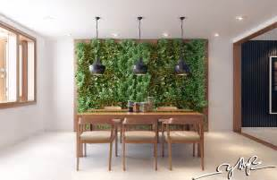 Home Interior Garden Interior Design Close To Nature Rich Wood Themes And