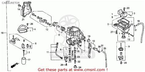 honda fourtrax 300 parts diagram honda trx300ex fourtrax 300ex 1998 w usa carburetor