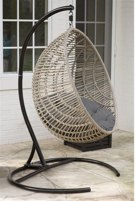 furniture home design outdoor hanging chair with stand review wicker hanging chair with stand by island bay