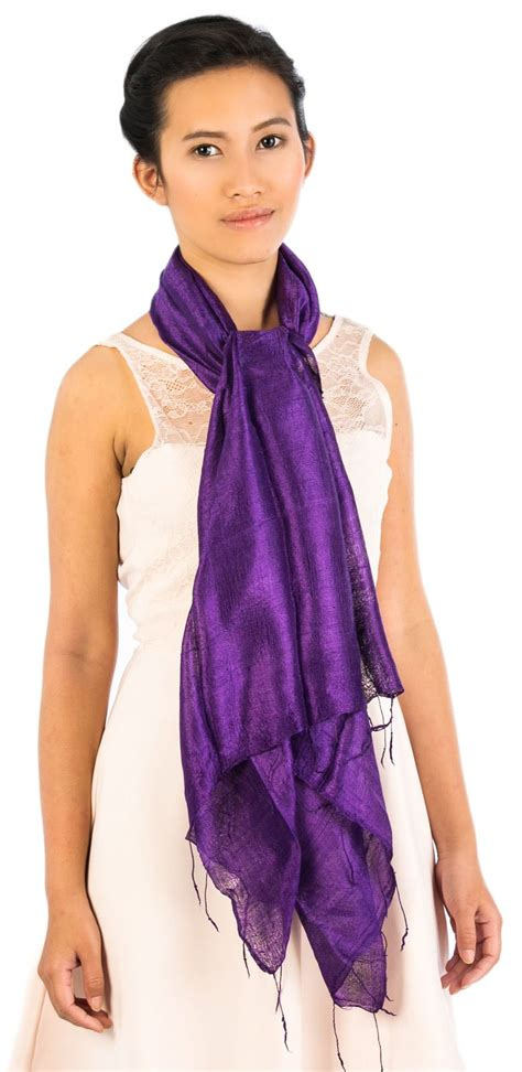 Handcrafted Scarves - handmade gorgeous thai silk blend scarves shawl wrap 25x65