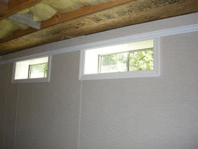 finished basement touches quebec doors windows crown
