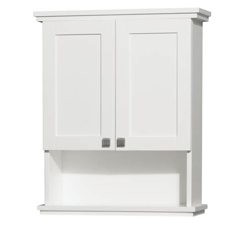 acclaim wall cabinet white bathroom storage wyndham
