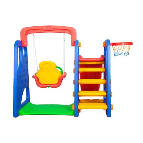 plastic swing set with slide kids plastic basketball ring hoop slide swing set buy