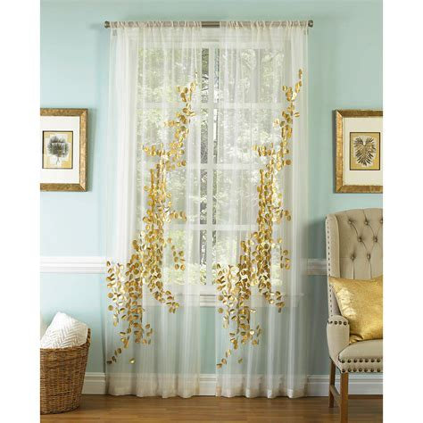 gold sheer curtain panels lhasa gold and white 96 x 50 inch sheer curtain single