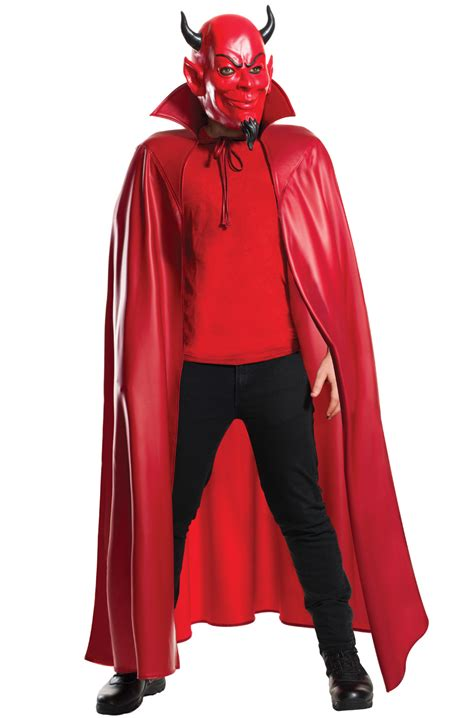 deluxe red devil mask  cape set purecostumescom