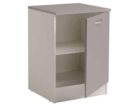meuble bas 60 cm 1 porte spoon color coloris gris vente