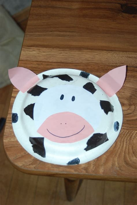 paper plate cow craft cow paperplate crafts