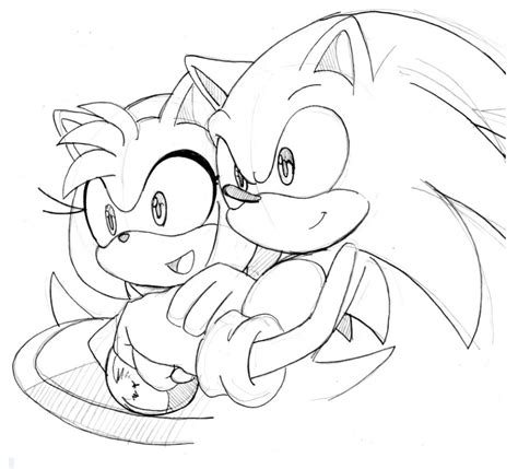 amy sonic x pages coloring pages