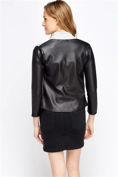 Quilted Faux Leather Jacket by Faux Leather Quilted Jacket Just 163 5