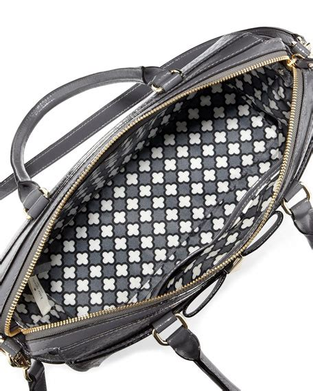 Kate Spade Beacon Jeanne Tartan kate spade new york beacon court jeanne satchel bag shadow gray