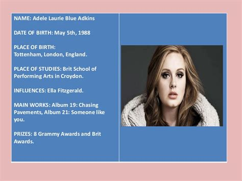 biography powerpoint presentation biography adele