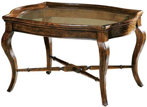 Rustic Glass Coffee Table Bordeaux Rustic Oval Cognac Glass Top Coffee Table