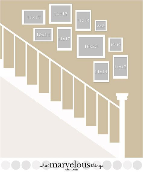 stair template staircase wall display plan how your exact arrangement