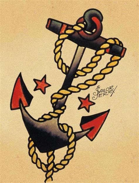 navy anchor tattoo designs sailor jerry tattoos be cause style travel