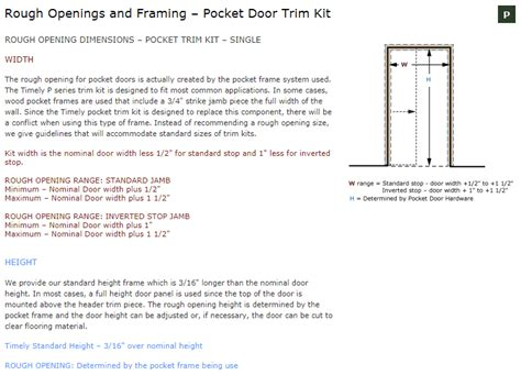 28 Inch Door Frame Kit by Single Timely Industries