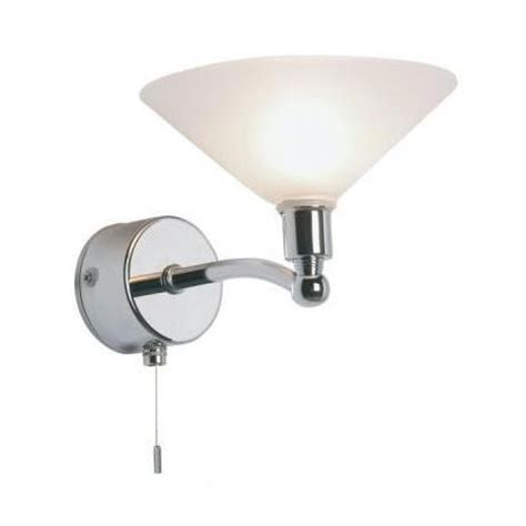 Bathroom Wall Lights With Switch Endon Enluce Invert Cone Wall Light With Pull Switch Chrome El 20027 At Plumbing Uk