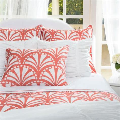 coral bedding the clementina coral duvet set crane canopy