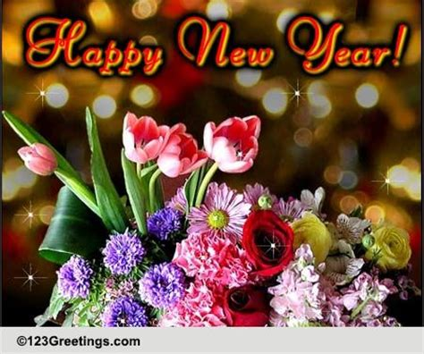 new year wishes with rose flowers bouquet of wishes on new year free flowers ecards greeting cards 123 greetings