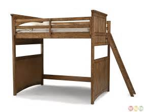 Lofted Bed Frames Timber Lodge Country Open Loft Frame Youth Bed