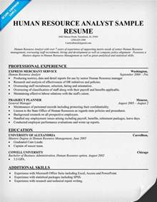 Human Resources Analyst Description by Sle Hr Resumes Resume Cv Cover Letter