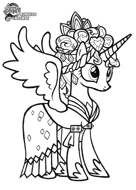 Princess Cadence Coloring Pages Coloring Home My Pony Princess Cadence Coloring Pages