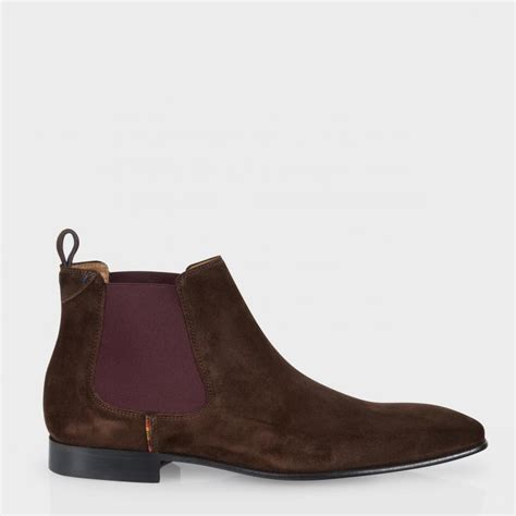 mens suede boots paul smith s brown suede falconer chelsea boots