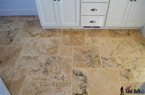 20 pictures and ideas of travertine tile designs for bathrooms travertine versailles pattern tile tutorial her tool belt