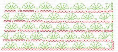 punto abanico crochet patron gratis diagrama jpg lanas y