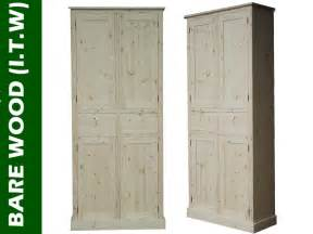 solid wood cupboard 7ft handcrafted larder pantry