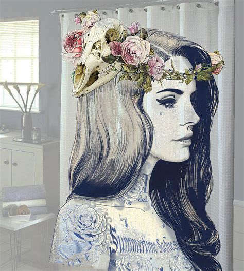 new tattoo and showering lana del rey tattoo shower curtain new from