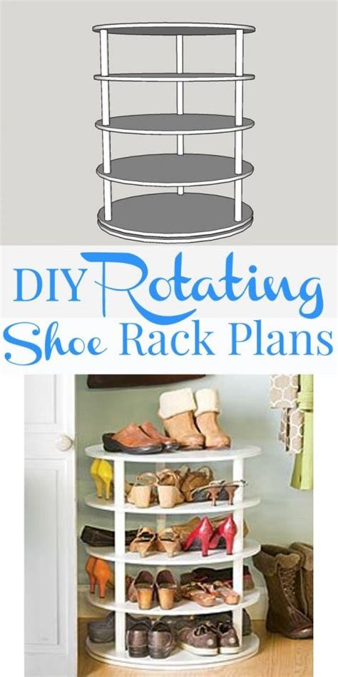 rotating shoe storage diy rotating shoe rack free plans on remodelaholic