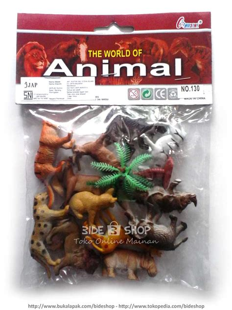 Mainan Binatang Hewan Liar jual mainan the world of animal set aneka satwa binatang murah meriah bide shop
