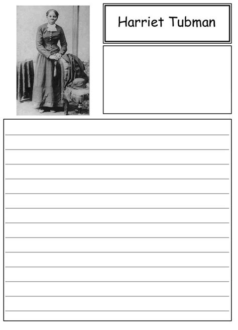 harriet tubman biography and questions harriet tubman notebooking paper black history