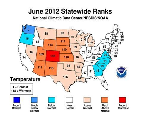 colorado average temperature map colorado leads states in national heat wave