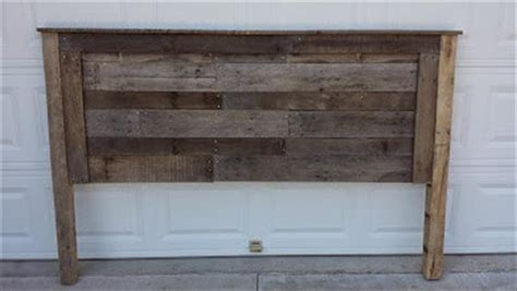 making a rustic headboard reclaimed pallet king size headboard pallet furniture diy