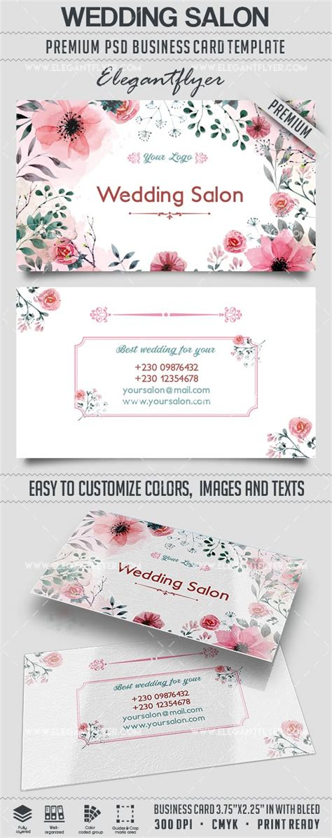 free wedding card templates psd wedding salon business card templates psd by elegantflyer