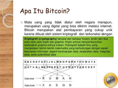 bitcoin untuk apa pengenalan tentang bitcoin