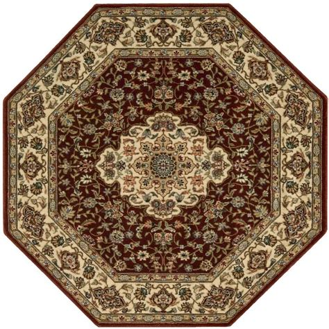 octagonal rug nourison arts neolithic brick 7 ft 9 in x 7 ft 9 in octagon area rug 695567 the