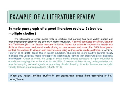 writing a literature review a quick guide