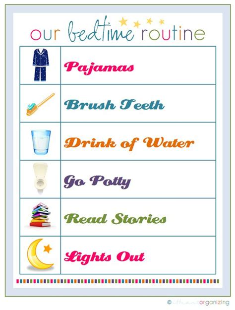 printable toddler bedtime routine chart goodbye lazy summer hello routines part 1 happyhomehabits