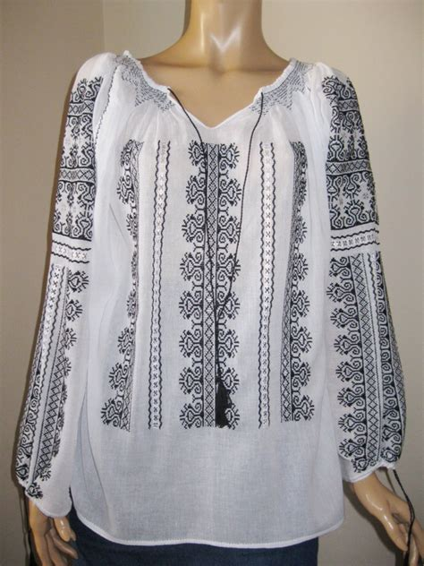12178 Blouse Include Cuff White Gray Black Size Fit To L 3 blouse black silver gray embroidery bird comb pattern m l greatblouses