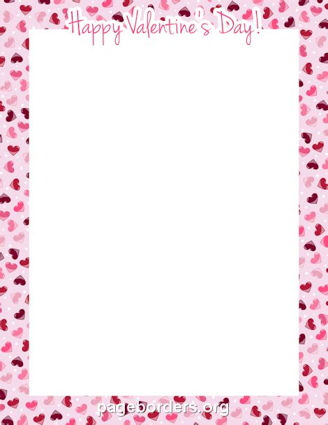 valentine templates for word printable quot happy valentine s day quot border use the border