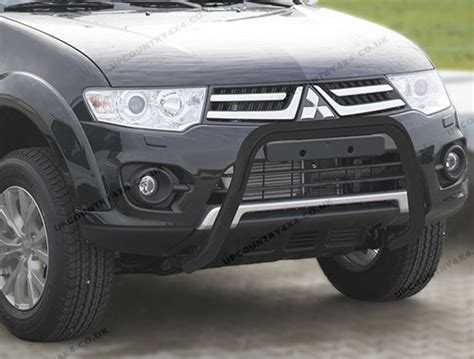 Grill Pajero Sport Mitsubishi 2009 2010 mitsubishi l200 front a bar in black by antec stainless