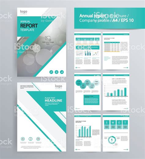 Page Layout For Company Profile Annual Report And Brochure Layout Template Stock Vector Art One Page Annual Report Template