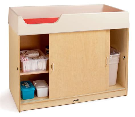 birch changing table birch wood changing table lockable doors