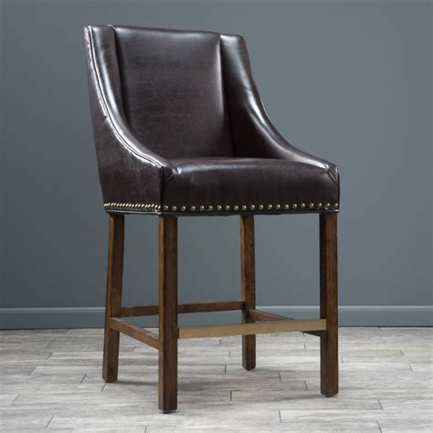christopher knight bar stool christopher knight home james bonded leather bar stool