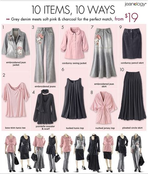 Ten Item Wardrobe 10 items 10 ways clothing capsules grey suits and style