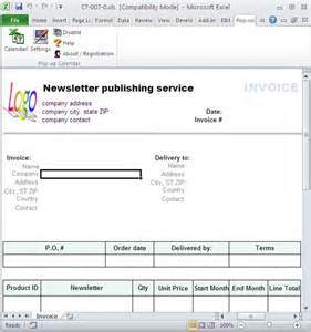 Publisher Invoice Template by Newsletter Publishing Invoice Template